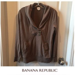 Banana Republic Brown Collar Sweatshirt